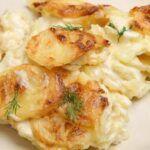 Flødekartofler med porrer