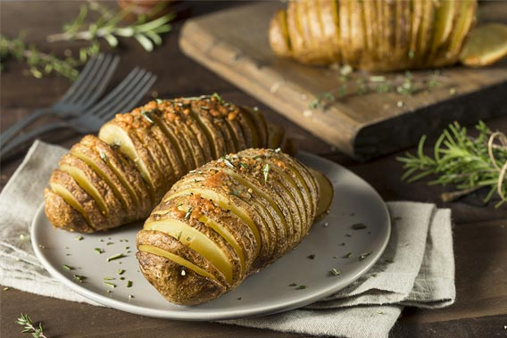 Hasselback kartofler