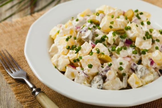 Kold Kartoffelsalat En Lidt Anderledes Kartoffelsalat Med Vindruer
