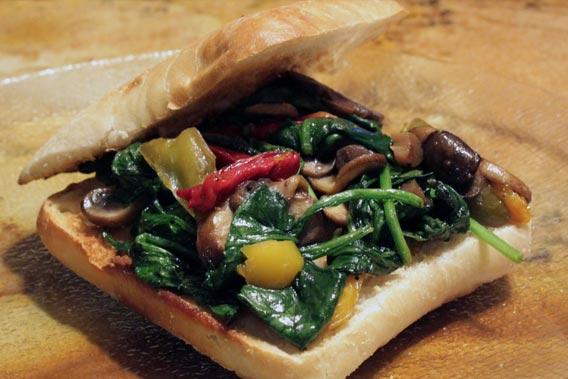 Sandwiches med vegetarfyld